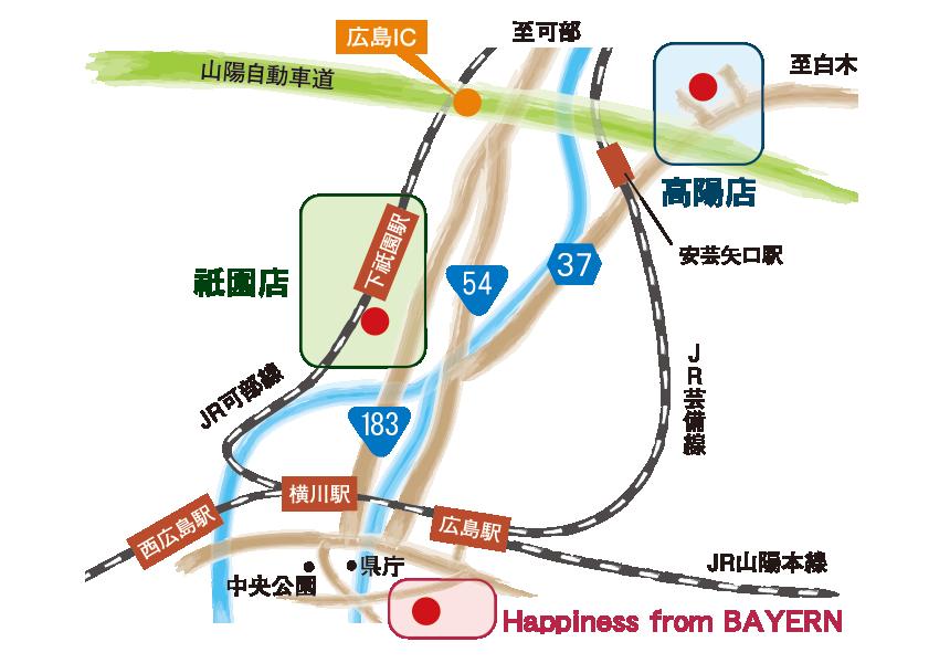 バイエルン店舗地図